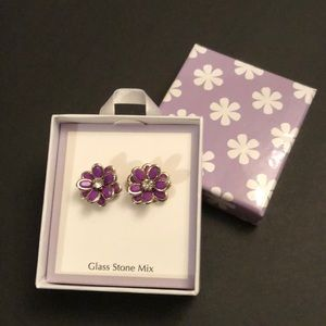 🔥Purple Flower Earrings